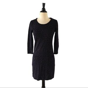 Anthropologie Purple Knit Sweater Wool Dress
